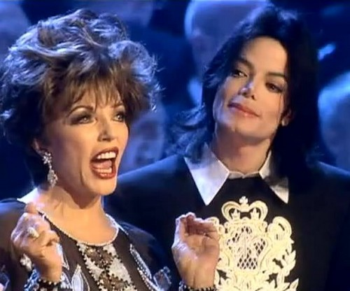 Michael And British-born Actress, Joan Collins - michael-jackson Photo