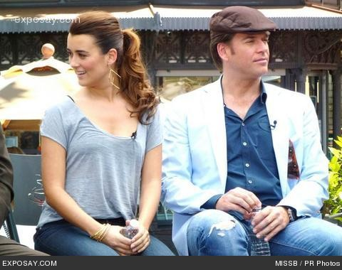 "Cote de Pablo and Michael Weatherly at ""Extra"" Interview with the Cast of ""NCIS"