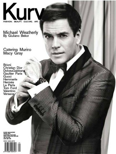 Michael Weatherly Kurv Magazine Fashion Shoot
