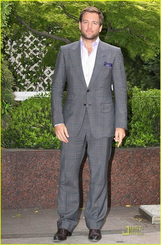 Michael Weatherly attends a press conference for his hit CBS drama, NCIS.