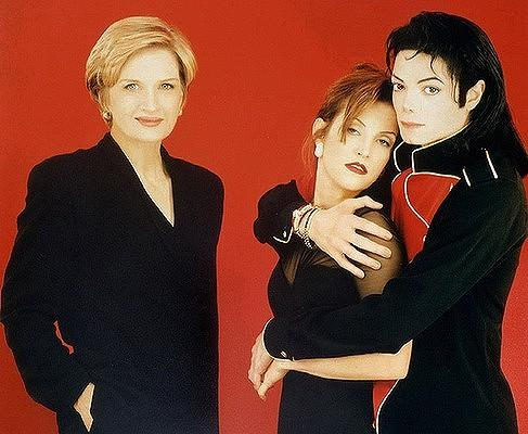 Michael With Lisa Marie And Journalist, Diane