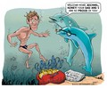 Micheal Phelps Cartoon
