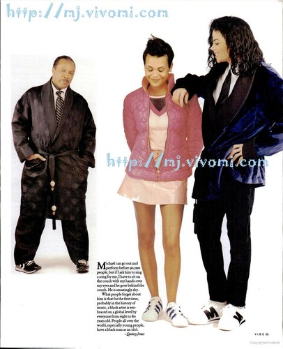 Micheal With Quincy Jones And Daughter, Kidada