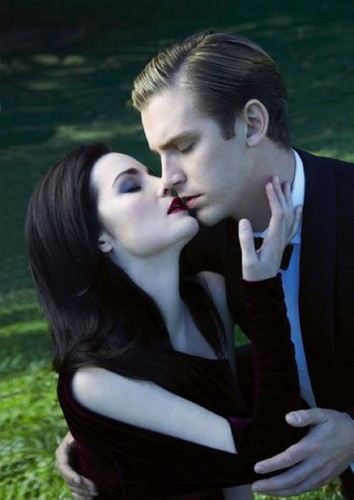 Downton Abbey wolpeyper titled Michelle Dockery & Dan Stevens for Evening Standard Magazine