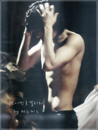 Lee Min Ho wallpaper possibly containing a portrait titled Minho shirtless~