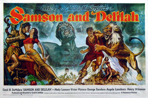 Movie Poster Samson and Delilah 1949