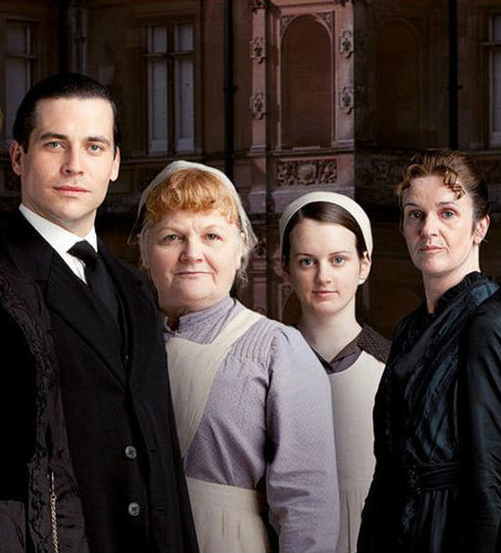 Mrs.Patmore, Daisy, Thomas and O'Brian
