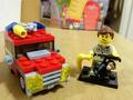 My LEGO Jeep and Zookeeper - lego photo