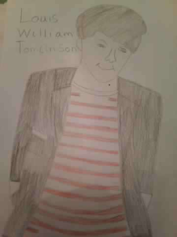 My drawing of Louis Tomlinson
