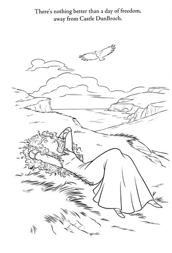 New Merida - Legende der Highlands Coloring Pages