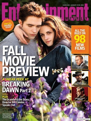 "New ""Entertainment Weekly"" cover featuring a new still from""Breaking Dawn - Part 2""."