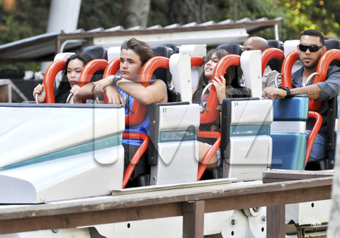 Niki, Prince and Paris at Six Flags