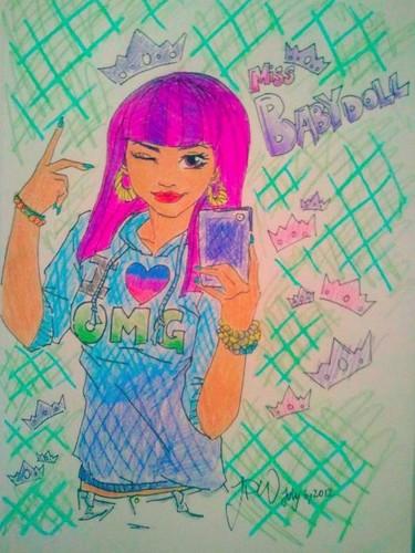 Omg girlz drawing