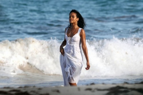 On The Set Of A BTA Campaign In Barbados [9 August 2012] - rihanna Photo