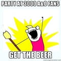 PARTY AT 3000 FANS SO GET THE........
