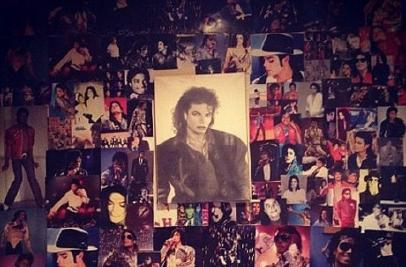 Paris' foto Collage Tribute To Her Father, Michael Jackson