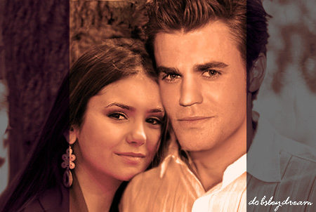 पॉल वेस्ली वॉलपेपर containing a portrait entitled Paul Wesley and Nina Dobrev <3