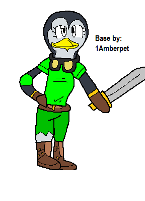 manchot, pingouin with Sword base!