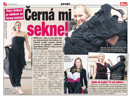 Petra Kvitova : Black suits me ! - tennis Photo
