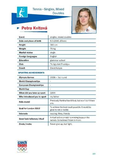 Petra Kvitova : Never give up,but fight.