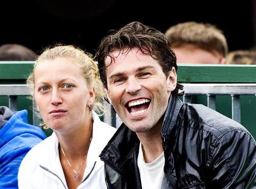 Petra Kvitova and Jaromir Jagr - tennis Photo