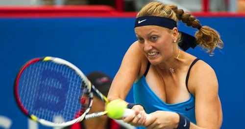 Petra Kvitova bronze and white breast
