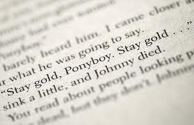 Ponyboy!....Stay Gold...