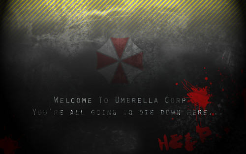 Resident Evil Hintergrund probably with a sign titled REvil 6.
