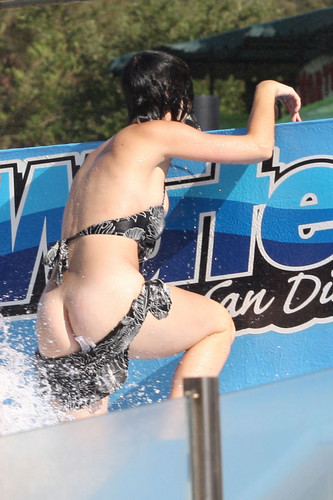 Katy Perry karatasi la kupamba ukuta containing a bikini entitled Raging Water Water Park San Dimas [12 August 2012]