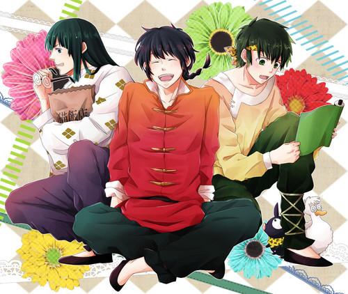 Ranma, Ryoga, and 摩丝, 慕斯