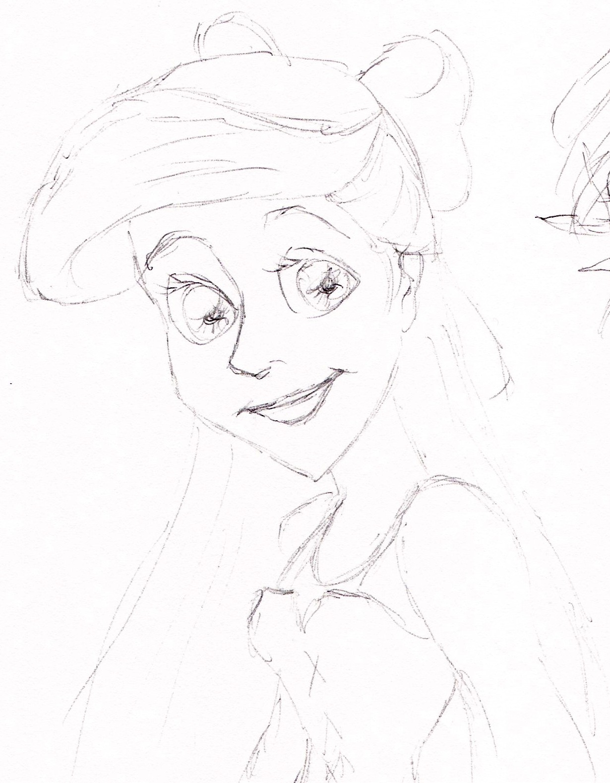Rapunzel and Ariel Sketches - Disney Princess Fan Art ...