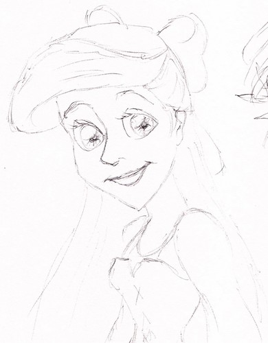 Rapunzel and Ariel Sketches - disney-princess Fan Art