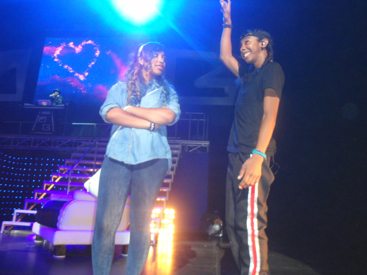 Ray Ray and Star on stage - Mindless Behavior Photo ... Zonnique And Ray Ray Kissing