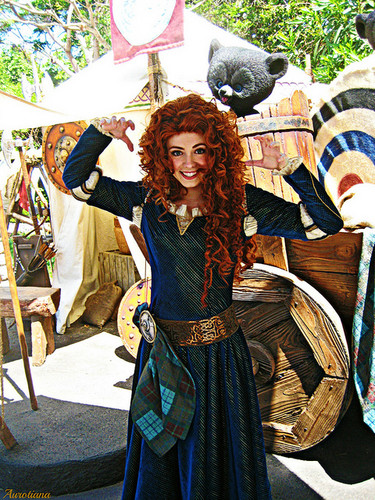 Merida - Legende der Highlands Hintergrund possibly with a surcoat, wappenrock entitled Real Merida