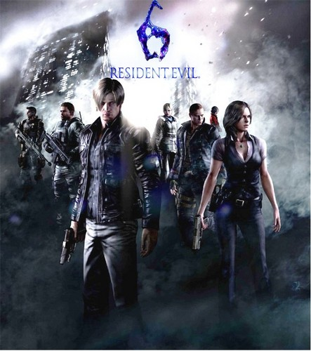 Leon Kennedy Wallpaper Containing A Fountain And Smoke Screen Titled Resident Evil 6