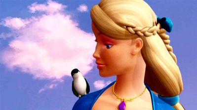 Rosella talking to Tiny the Bird