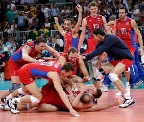 Russia wins olympic ginto medal in men's volleyball