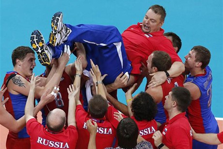 Russia wins olympic gold medal in men's volleyball