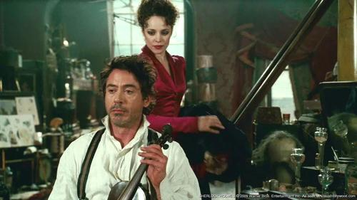 Sherlock Holmes and Irene Adler wallpaper probably with a pianist entitled Sherlock Holmes and Irene Adler