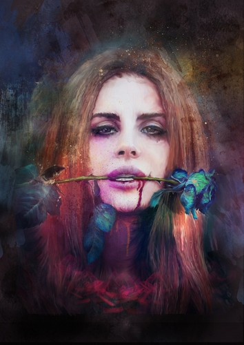 Singer Lana Del Rey Illustrated by Richard Davies
