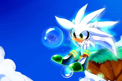 Silver the Hedgehog kertas dinding titled Sky Silver