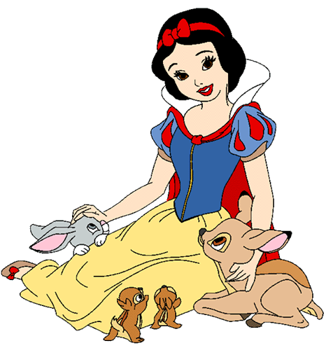 Snow White and the Seven Dwarfs achtergrond with anime titled Snow White Clipart