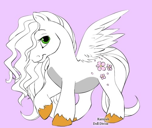 Snow as poney