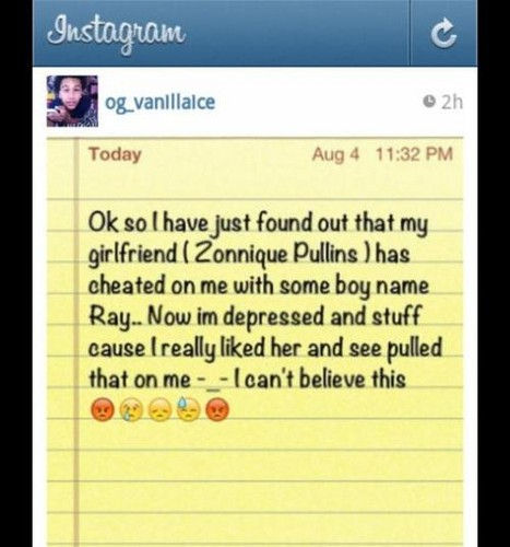Star's from the OMG GIRLZ boyfriend wrote this on instagram