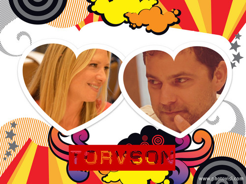 Anna Torv and Joshua Jackson wallpaper possibly with Anime titled TORVSON <33