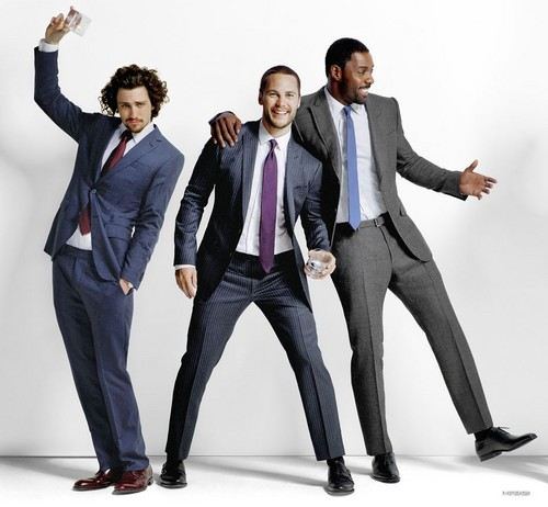 Taylor Kitsch wallpaper containing a business suit, a suit, and a well dressed person called Taylor Kitsch, Aaron Johnson and Idris Elba - Esquire Magazine (2012)