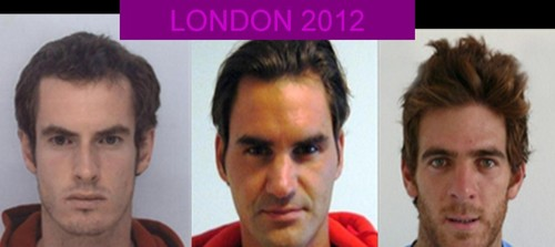 Tennis results men in London 2012