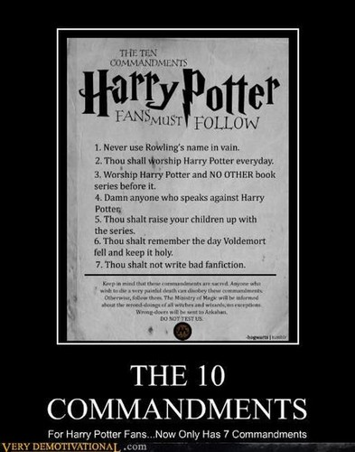 Th 10 comandments  - harry-potter Photo