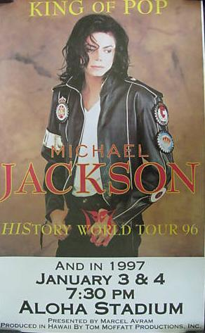 "The 1997 ""Dangerous"" concierto Tour Poster"