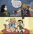 Thor & Loki - the-avengers fan art
